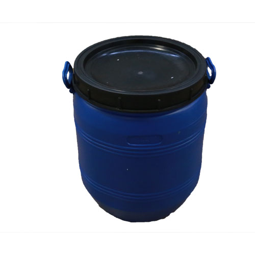 12 gal open head poly recon blue p/c with handles