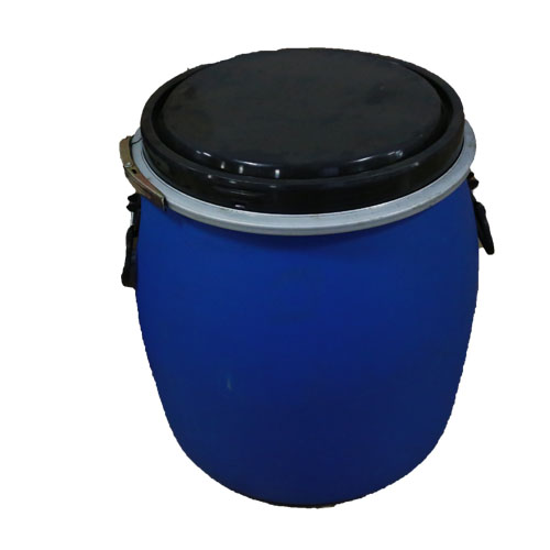 19 gal open head poly recon blue p/c with handles